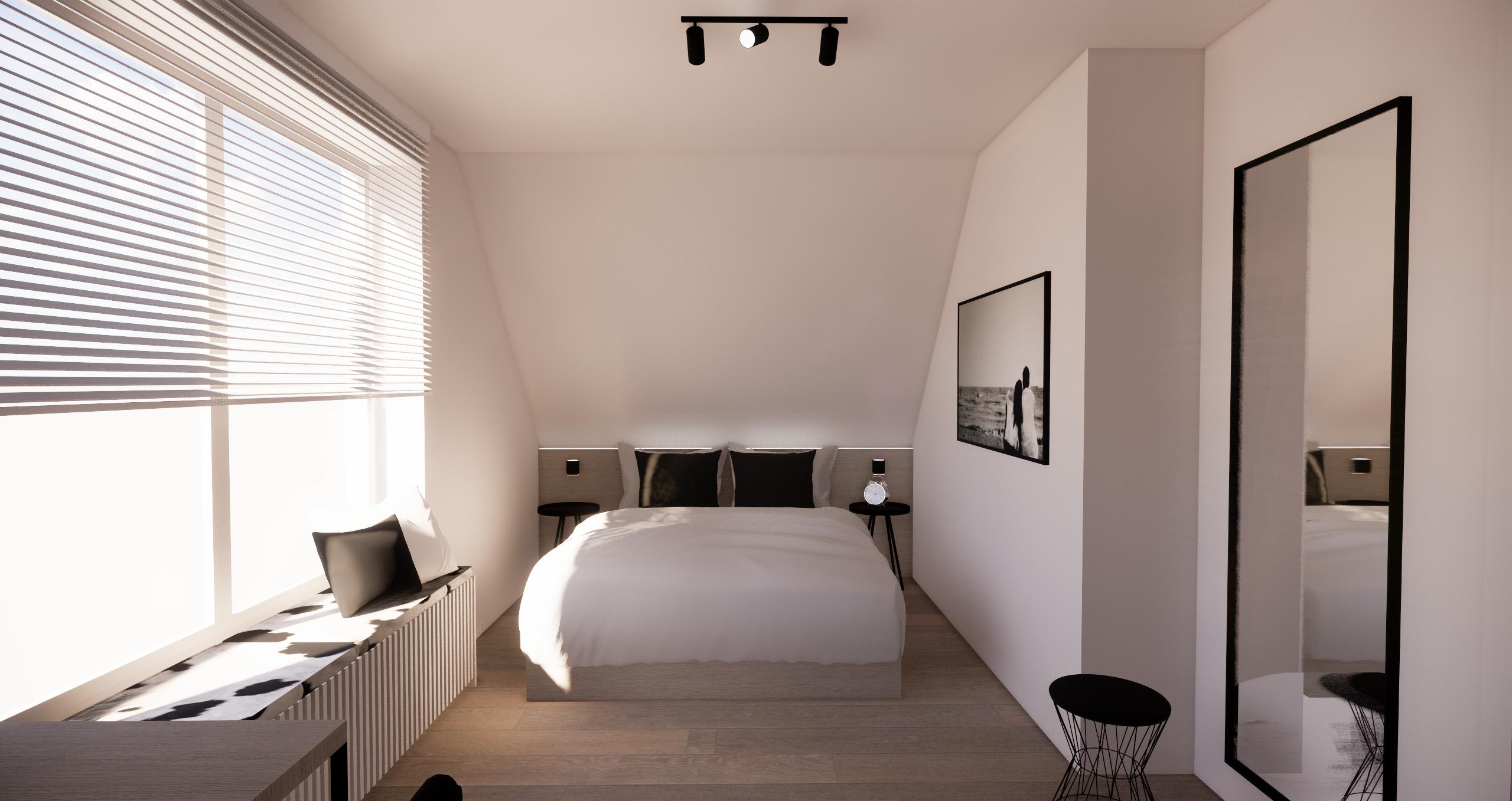 Slaapkamer / Chambre à coucher Kooigem